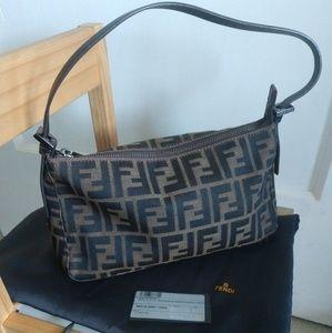 AUTH. FENDI ZUCCA Bag Circa 2001